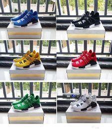 Wholesale Runner Sport - Originals NMD HUMAN RACE Pharrell Williams x NMD Runner 2017 Men Women Fashion Sports Shoes NMD HUMAN RACE Yellow Grey Red Green Blue 36-47