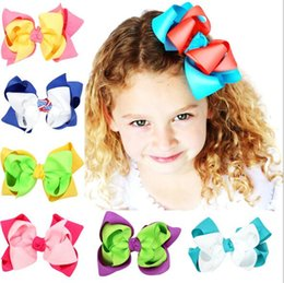 Wholesale Girls Hair Bubbles - 14 colors Hot selling Christmas new styles baby girl Double bubble bow hairpin Children Headwear girls Christmas Hair Accessories