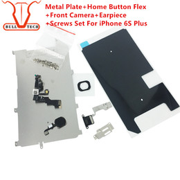 Wholesale Iphone Front Touch Screen - For iphone 6s Plus Full lcd parts Metal Bracket Home Button Flex Front Camera Earpiece Screws Display Touch Screen Digitizer Small Parts Set