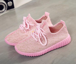 Wholesale Child Shoe Size 21 - Cheap Baby Kids Kanye West 350 Boost Children Athletic Shoes Boys Running Shoes Girls Casual Shoes Baby Training Sneakers Size 21-32