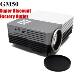 Wholesale Interface Games - Wholesale-Portable Mini Projector Solo GM50 80lumens Home Theater Cinema Beamer Projector for Video Games with USB HDMI VGA AV Interfaces
