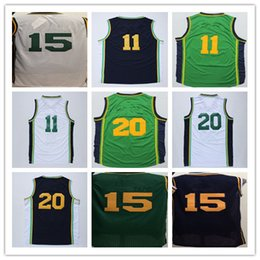 Wholesale Orange Black Favors - Wholesale 20 Gordon Hayward Basketball Jerseys White Green Navy Blue Men 15 Derrick Favors 11 Dante Exum Jersey With Player Name