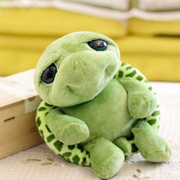 Wholesale Stuffed Green Turtle - Wholesale- Big Eyes Tortoise Turtle Plush Stuffed Animal for Kid Baby Green Cute big and small 20cm 28cm children's birthday Green