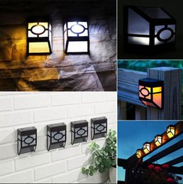 Wholesale Led Wall Mount Pathway Lighting - Solar Powered Wall Mount LED Light Outdoor Path Yard Garden Fence Landscape Lamp LED Light Pathway Lights OOA3135