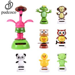 Wholesale Solar Desk - Wholesale- Pudcoco Hot Solar Powered Cute Dancing Animal Swinging Animated Bobble Dancer Toy For Home Desk Office Car Decoration Gift