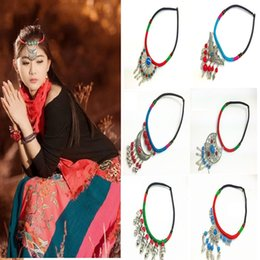 Moda colar de cinta on-line-Atacado-New fashion girl Colar Neck Necklace colar étnica Características Jóias Strap Girls Gift Frete grátis A0639