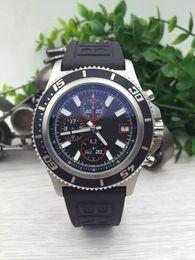 Wholesale Gold Watch Ii - 2017 hot sale brand watches men superocean ii heritage 46 watch leather belt watch quartz chronograph watch men dress wristwatches