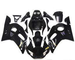 Wholesale Motorcycle Fairing Kit Yzf R6 - New TOP quality motorcycle ABS Fairing Kits 100% Fit For YAMAHA YZF-R6 98-02 YZF600 1998 1999 2000 2001 02 YZF R6 nice black glossy