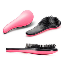Wholesale Comb Massager - Wholesale- Brand New 1PC 18CM Eyecatching Hair Care Styling Hair Comb Beauty Healthy Styling Care Hair Comb Shower Massager Detangle Brush