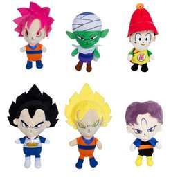 Wholesale Goku 14 - 22 cm Anime Dragon Ball Z Plush Doll Toys in Version Goku Gohan Vegeta Piccolo Barrels Plush Soft Toys for Children for Kids Gifts