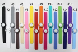 Wholesale Slap Watch Wholesale - Free shipping New children size slap watch multicolor kids quartz Watch gift novel fashion watches DHL UPS TNT FedEx free shipping