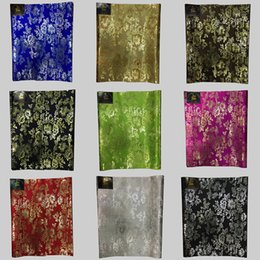 Wholesale African Fabric Brown - Classic African Gele Fabric,royal blue nigerian Sego headtie gele & wrapper for head wraps 2pcs lot LXL-11-16