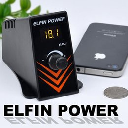 Wholesale Elfin Tattoo - Wholesale-Professional Newest Generation of Tattoo Power Supply High Quality Black Mini ELFIN Tattoo Power Supply Free Shipping