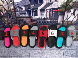 Wholesale Indoor Leather Basketballs - Hot Sale 8 Colors !! Summer Retro 6 Slippers Hydro VI Airs Sandals Men's Fashion Outdoor Casual Basketball Sneakers Slippers Size 36-45