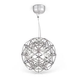 2019 pendentifs d'éclairage de matériel de restauration Moderne LED Luminaires Suspendus Creative Métal Sphérique Pendentif Lampe Salle À Manger Restaurant Éclairage À La Maison Lampara Colgante