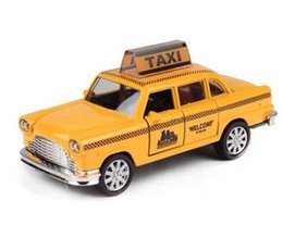 Wholesale Hot Wheels Diecast - Hot Sale Minecraft Taxi Alloy Car Model For Kids Toys Diecast Toy Car Hot Wheels 1:32 Christmas Gift