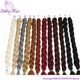 "Wholesale Expressions Braiding Hair - Wholesale-82"" 25 Colors Expression Braid 165G Ultra Kanekalon Expression Braiding Hair Synthetic Crochet Box Braids Hair Jumbo"