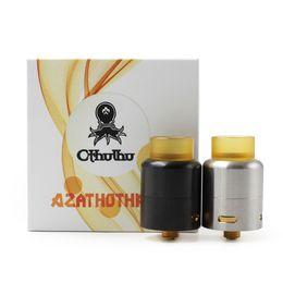 Wholesale E Cigarette Atomizer Refills - Newest Azathoth RDA Atomizer Clone 24MM Bottom Refill Adjustable Airflow Black Silver 2 Colors Fit 510 Vape Mod E Cigarette DHL free