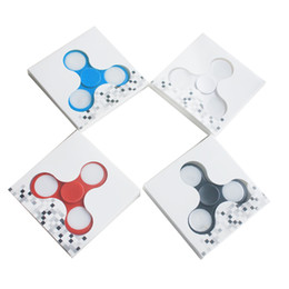Wholesale Blue Spinning Light - Hot LED Light Plastic Hand Spinners Fidget Spinner Top Quality Triangle Finger Spinning Top Colorful Decompression Fingers S005