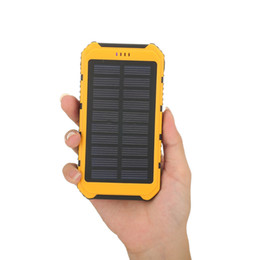 Wholesale External Cell Phone Batteries - Solar Charger Power Bank 6000MAH batterie externe carregador de bateria portatil External Battery for iPhone SAMSUNG HTC LG PSP