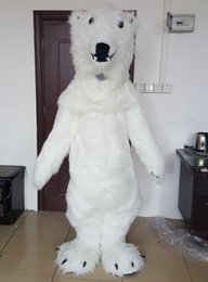 Wholesale Japanese Realistic - brand new realistic furry white polar bear mascot costume for adults