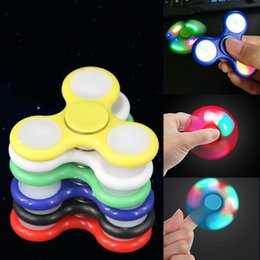 Wholesale Blue Light Bulb Cover - Hand spinner Prime Fidget Spinners Handspinner Fingertips EDC Colorful Bearings Spinning top WITH BOX red green blue yellow black covering