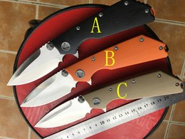 Wholesale Custom Knives Sale - HOT SALE!!Wild Boar & Microtech halo knives Marfione Custom DOC folding Knife ,high-end D2 blade AKC karambit balisong knives(3 colors)