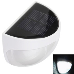 Wholesale Led Wall Mount Pathway Lighting - Wholesale- New LED Solar Panel Lamp 6 LED Light Sensor Waterproof Mounted Outdoor Fence Garden Pathway Wall Lamp Landscaping Porch Lighting