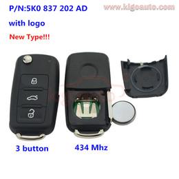 Wholesale Vw Golf Remote Key - car 5K0837202AD Remote key 3 button HU66 434Mhz 5K0 837 202 AD for 2012 VW Passat Polo Golf Jetta Beetle Tiguan