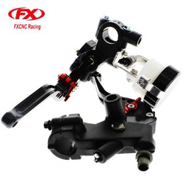 Wholesale Brake Lever Master Cylinder - FX CNC 22mm Universal Adjustable Hydraulic Brake Cable Clutch Levers Master Cylinder Reservoir Set For Aprilia 125-300CC