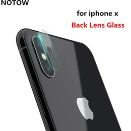 Wholesale Iphone Back Rear Camera - 2017 NEW flexible Rear Transparent Back Camera Lens Tempered Glass Film Protector Case For iphone X