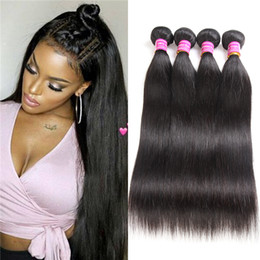 Wholesale Straight Indian Virgin Remy - Brazilian Virgin Hair Straight 8-30 32 34 36 38 40 Inches Unprocessed Human Remy Hair Extensions Wefts Straight Hair Weave Bundles