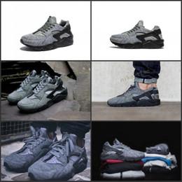 Wholesale Outdoor Tech - 2017 Newes Air Huarache Run Tech Fleece Shoes Women And Mens Huaraches Sneakers Hot Sale Huarache Shoes Running Shoes Size 36-45