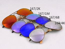 Wholesale Mirror Aviator Mirrored - Aviator Sunglasses for Men Women New Bronze Color Frame Sunglasses Flash Mirror Lenses Sunglass Brand Sunglasses Designer Sunglass 58 62mm