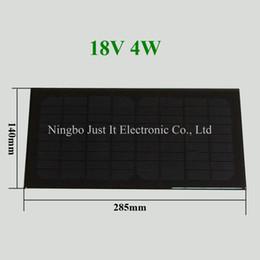 Wholesale Solar 18v - 10pcs lot Monocrystalline Epoxy Resin Small Solar Panel 18V 4W 285*140mm