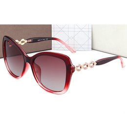 Wholesale Ladies Leg Sunglasses - 2017 lady luxury brand designer sunglasses women points sun fashion diamond leg with box UV400 polarized sunglasses for women 4 colors