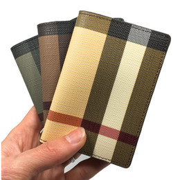 Wholesale Coin Holders Banks - Business Leather Credit Card Holder High Quality Designer Mini Bank id Card Case 3 Colors Slim Card Wallet Men Women Coin Pocket