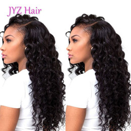 Wholesale Bleach Wigs - Deep Wave Human Lace Wigs Grade Brazilian Malaysian Virgin Soft Human Hair Lace Front Wig With Baby Hair Full Lace Wigs Bleached Knots