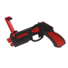 Wholesale Toy Gun Sounds - Newest Portable Virtual AR Game Gun Bluetooth AR Toys Gun Ar Blaster for iPhone Android Smart Phone