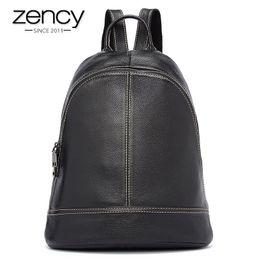 Wholesale Top Selling School Backpacks - 5 Colors Zency Brand Top Selling Women Backpack Preppy Style Travel School Bag For Teenager Girls 100% Genuine Leather Soft Skin