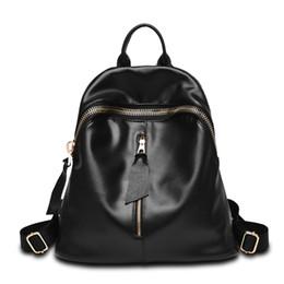 Wholesale Simple Korean Girls - Wholesale- New Brand Designer Women Fashion Backpacks Simple Koran Style School for Teenager Girls Ladies Shoulder Bags Black