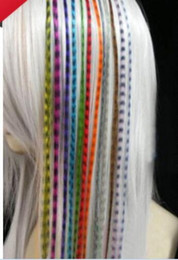 Wholesale Feather Hairpieces - Colorful 10000pcs lot Length 16inch 40cm mix colors Synthetic Available Grizzly Loop Feather Hair Hairpiece