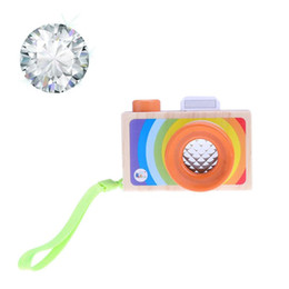 Wholesale Funny Pictures Cartoon - Wholesale- Baby Funny Wooden Toy Cartoon Cameras Kaleidoscope Kids Play Phantoscope Picture Lens Children Educational Toys Gift