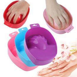 Wholesale Hand Soaks Manicures - 1pcs Nail Art Hand Wash Remover Soak Bowl DIY Salon Nail Spa Bath Treatment Manicure Tools JCA0068