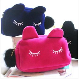 Canada Portable Cartoon Chat Coin Stockage Maquillage Cosmétique Make Up Organisateur Sac Boîte Cas Femmes Hommes Casual Voyage Sac À Main Offre