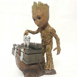 Wholesale Resin Characters - Hot Guardians of the Galaxy Groot Anime Baby Character Push Bomb Button One Piece Action Figure Statue Toy Model Resin