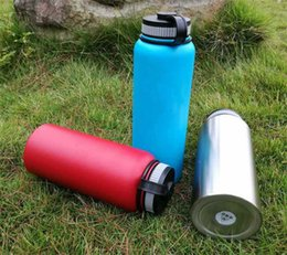 Wholesale Water Canteens - Vacuum Water Bottle 18oz 32oz 40oz Insulated Stainless Steel Thermos Water Bottle Wide Mouth Big Capacity Travel Sports Bottles Canteen