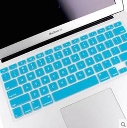 capa de capa de silicone macbook pro Desconto Alemão Russo Francês Árabe Espanhol teclado impermeável tampa transparente de borracha de silicone Para Macbook Pro Air 13 15 17 polegadas US Versão da UE