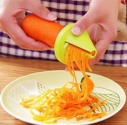 Wholesale Carrot Cutter Slicer - Gadget Funnel Model Spiral Slicer Vegetable Shred Device Cooking Tool Carrot Radish Cutter for Kitchen Accessories