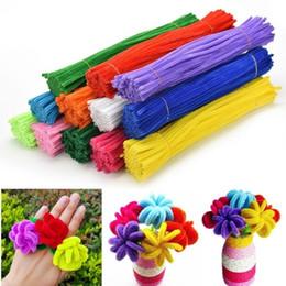 tubo de chenilla tallos Rebajas 100 unids chenilla tallos limpiadores de tuberías niños artesanía juguetes educativos barras de giro